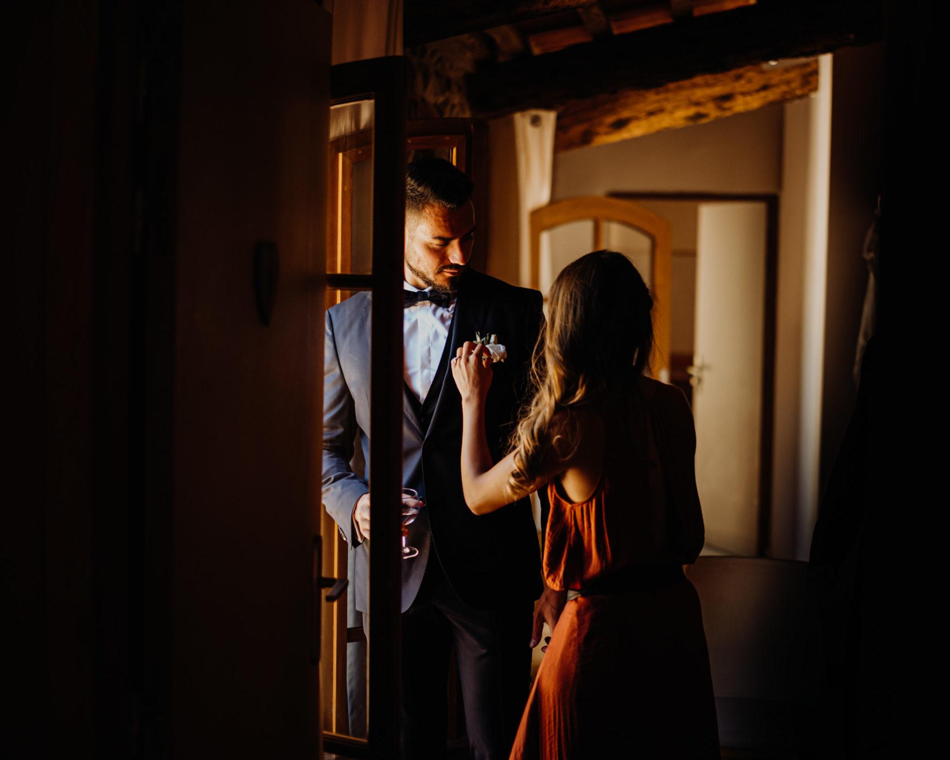 préparatifs mariage marié